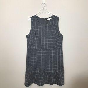 LOFT Dresses - Loft Pink and Grey Shift Dress